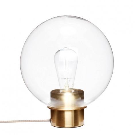 Lampe Globe - Transparent et Laiton