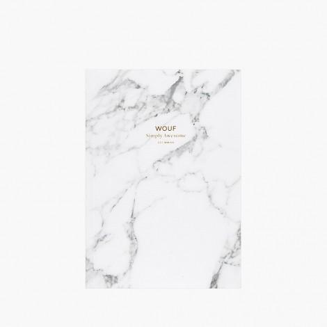 Carnet A5 Marbre Blanc