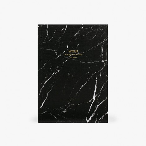 Carnet A5 Marbre Noir