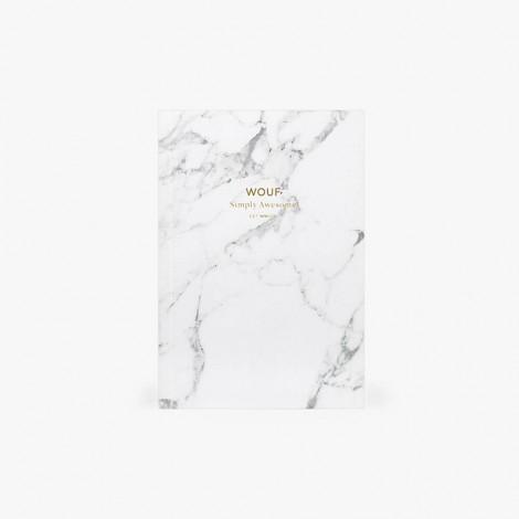 Carnet A6 Marbre Blanc